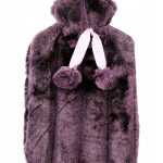purple faux fur hot water bottle
