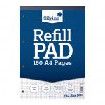 160 page squared A4 refill pad