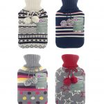 4 knitted hot water bottles