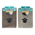 brown and beige microfibre pet towel
