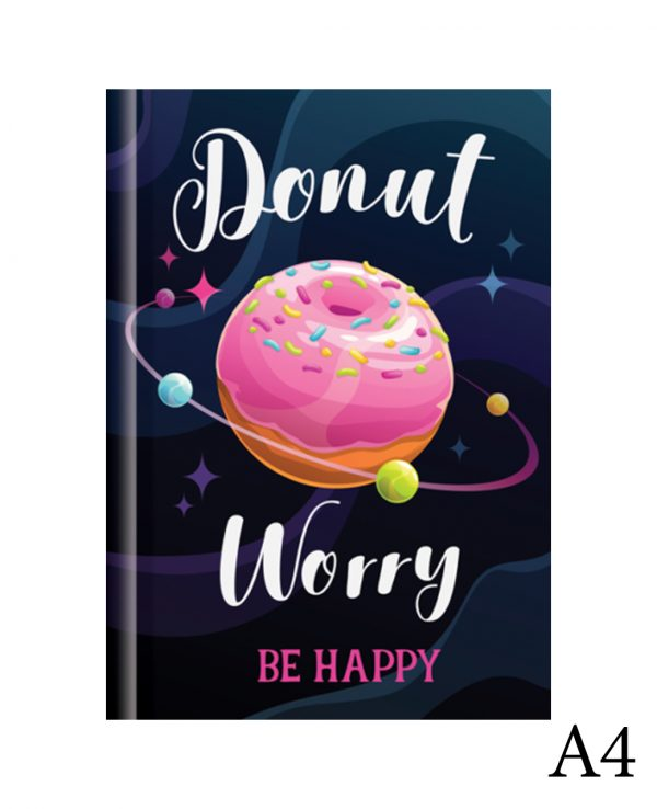 Donut a4-fashion notebook cover, hard back notebooks a4 a5 a6, beautiful notebooks journal