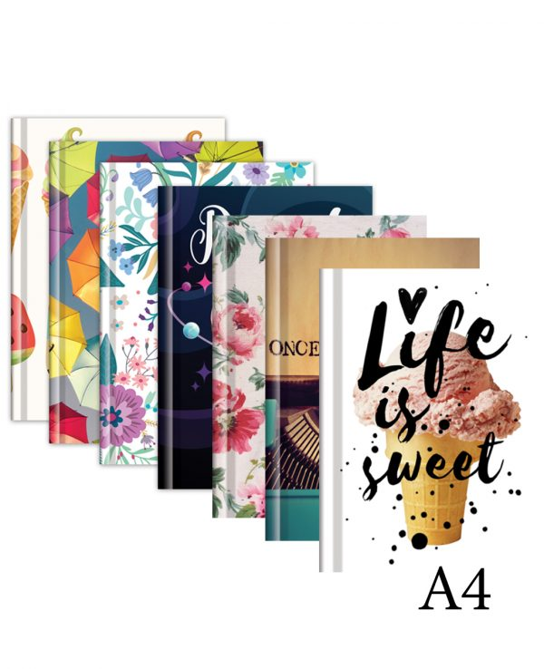Fashion notebook a4-fashion notebook cover, hard back notebooks a4 a5 a6, beautiful notebooks journal