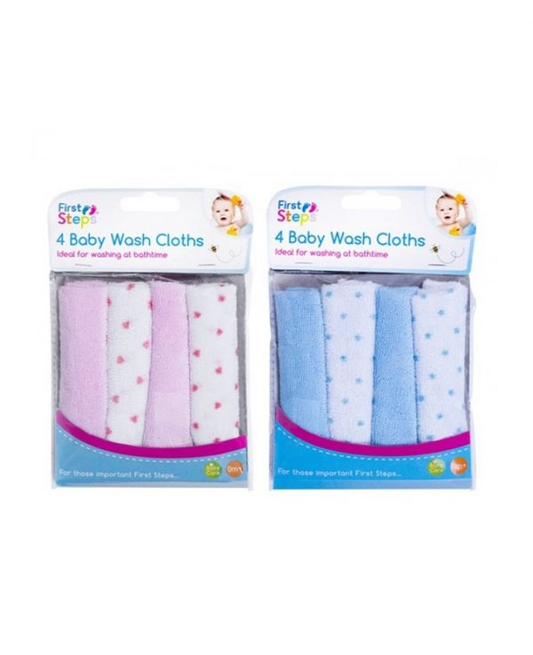 pink or blue baby wash cloth