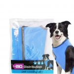 Reflective pet cooling vest in blue