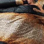 black and leopard print duvet cover