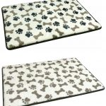 Paw and dog bone design pet mat in black or taupe