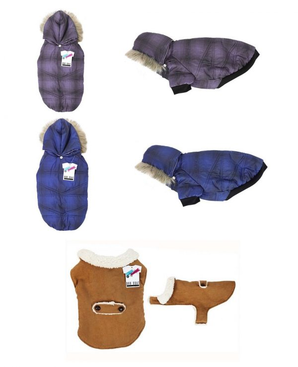dog coat in 3 colours