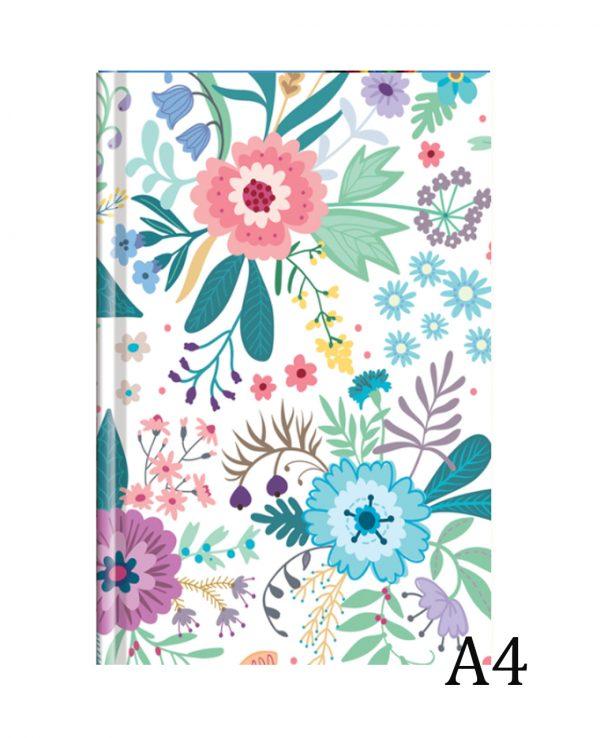 a4 floral hardback notebook