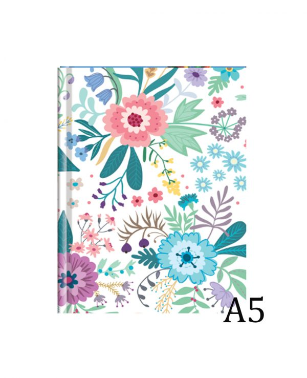 a5 floral hardback notebook