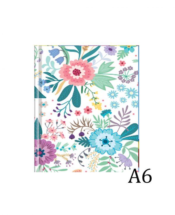 a6 floral hardback notebook