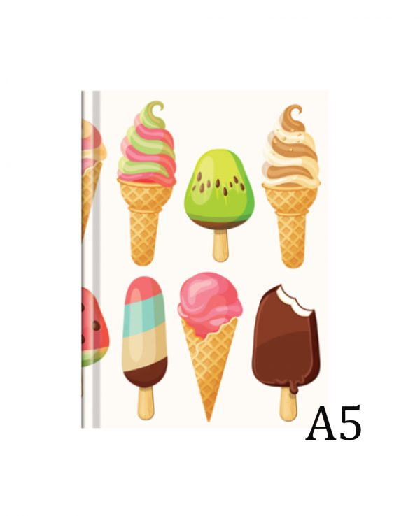 a4 ice cream hardback notebook