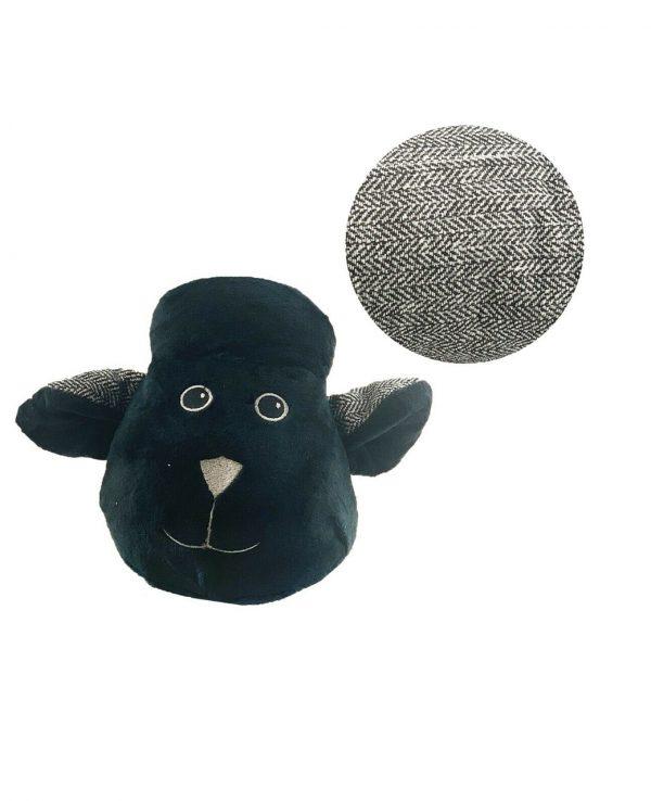 Black Sheep Herringbone Door Draught excluder-animal door draught excluder, funky draught excluders, sausage dog draught excluder, sausage dog draught excluder sewing pattern 2