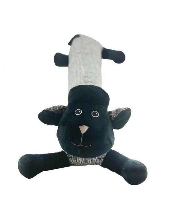 Black Sheep Herringbone Door Draught excluder-animal door draught excluder, funky draught excluders, sausage dog draught excluder, sausage dog draught excluder sewing pattern 3