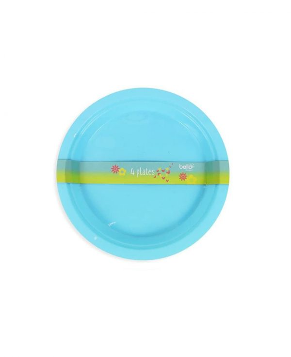 Blue Plate- strong reusable plastic plates, reusable plastic plates dishwasher safe, plastic plates suitable for microwave, plastic picnic plates dishwasher safe, hard plastic plates
