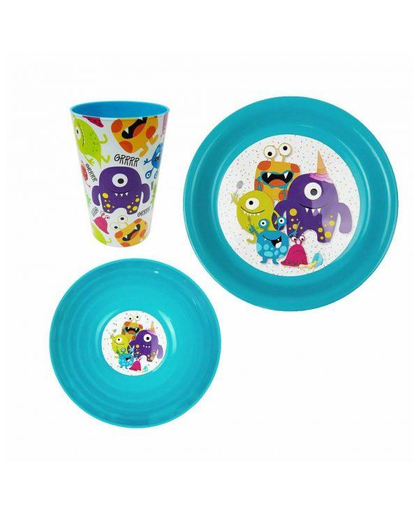Boys Blue Plastic Dinner Set, Children's Plastic Dinner Set, Kids plastic dinner set, childrens dinner set asda argos tesco 2