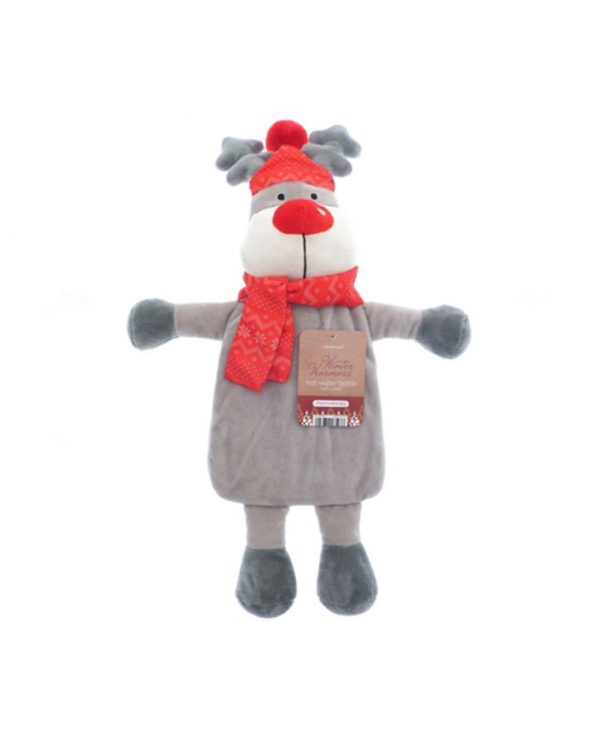Christmas Novelty Hot Water Bottles- Reindeers, Christmas hot water bottle cover, christmas gift hot water bottle, christmas novelty hot water bottle cover