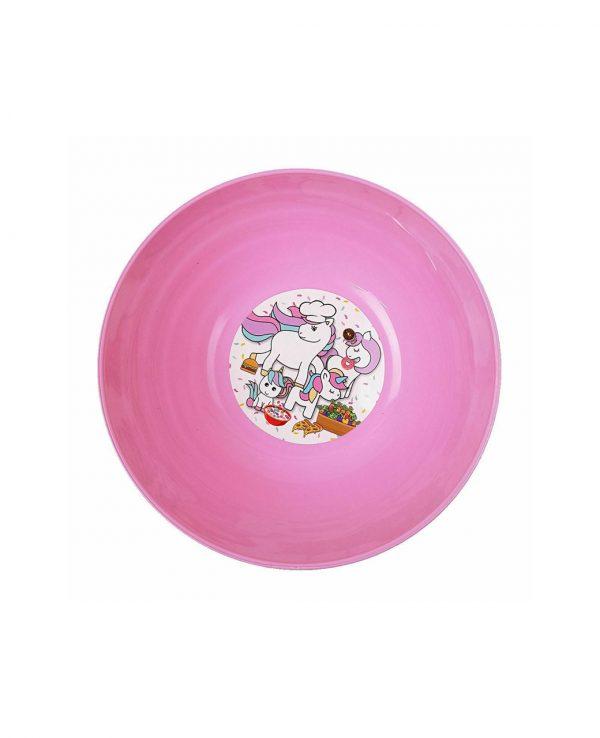 Girls Pink Unicorn Plastic Dinner Set, Children's Plastic Dinner Set, Kids plastic dinner set, childrens dinner set asda argos tesco 4