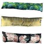 Jungle Rose Our Home pattern Velvet Cushion Draught Door Excluder-funky draught excluder, velvet draught excluder, draught excluder cushion 2