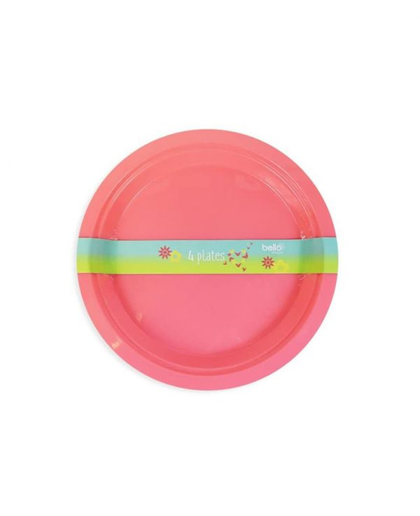 Pink Plate- strong reusable plastic plates, reusable plastic plates dishwasher safe, plastic plates suitable for microwave, plastic picnic plates dishwasher safe, hard plastic plates