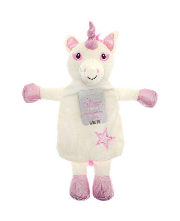 Pink Unicorn animal hot water bottle, animal hot water bottle cover, unicorn hot water bottle cover, uk
