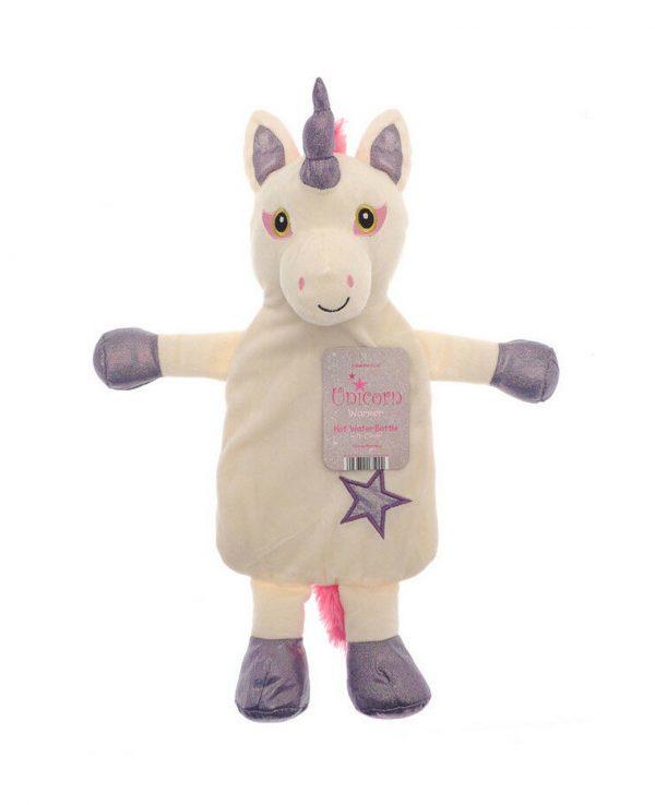 Purple Unicorn animal hot water bottle, animal hot water bottle cover, unicorn hot water bottle cover, uk