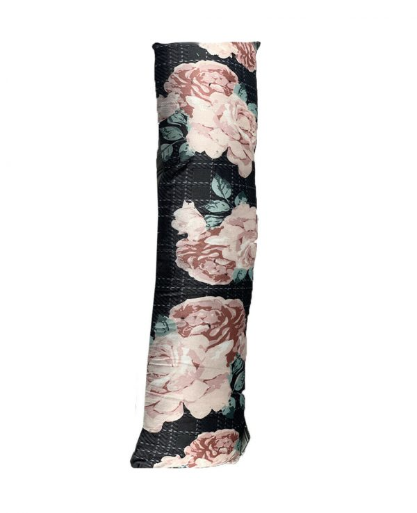 Roses Velvet Cushion Draught Door Excluder-funky draught excluder, velvet draught excluder, draught excluder cushion 2