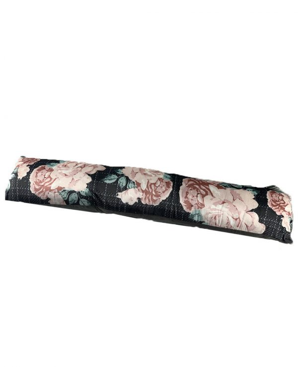 Roses Velvet Cushion Draught Door Excluder-funky draught excluder, velvet draught excluder, draught excluder cushion