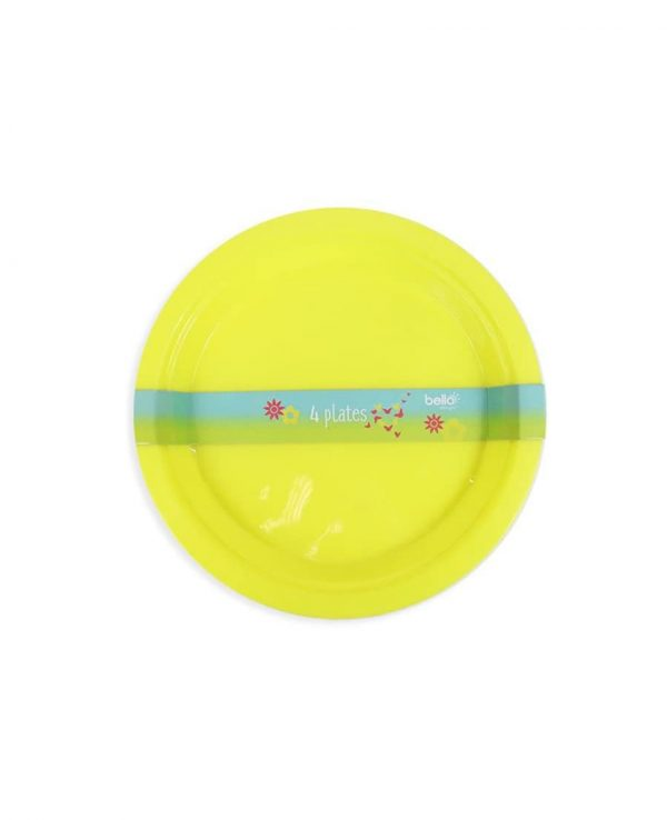 Yellow Plate- strong reusable plastic plates, reusable plastic plates dishwasher safe, plastic plates suitable for microwave, plastic picnic plates dishwasher safe, hard plastic plates