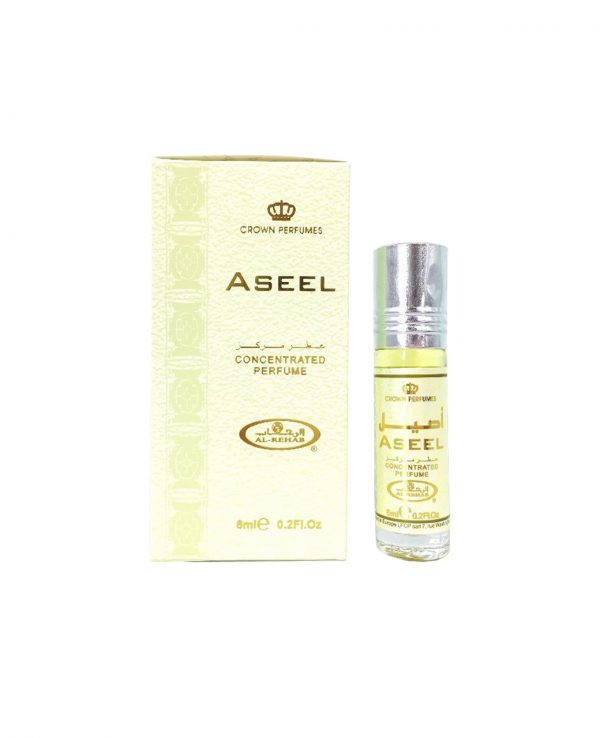 Aseel perfume oil 6ml roll on attar al rehab-al rehab concentrated perfume oil, best attar perfume oil, al-rehab crown roll on attar perfume oil, best arabic perfume oil