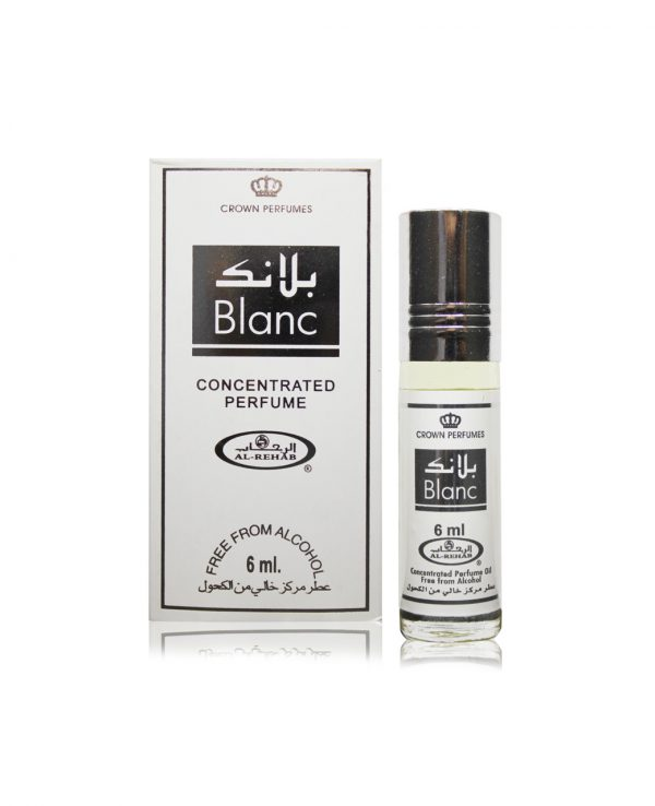 Blanc perfume oil 6ml roll on attar al rehab-al rehab concentrated perfume oil, best attar perfume oil, al-rehab crown roll on attar perfume oil, best arabic perfume oil