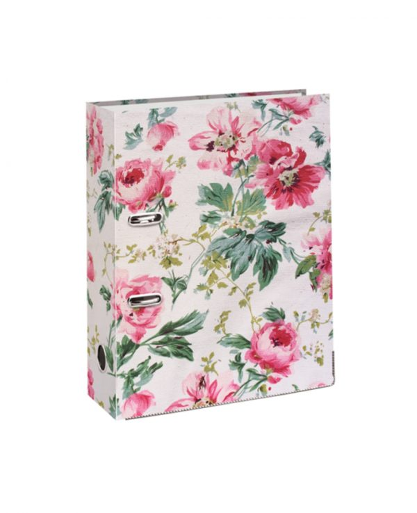 Fashion Lever Arch Pink Floral Roses-decorative lever arch files, lever arch file a4, ring binder a4