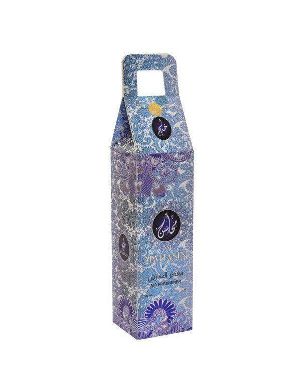 Mahasin Blue Water Based Room Spray -arabic room spray, arabian oud room spray, oud home spray,water based room spray, room spray formulation, islamic air freshener, arabian oud air freshener 3