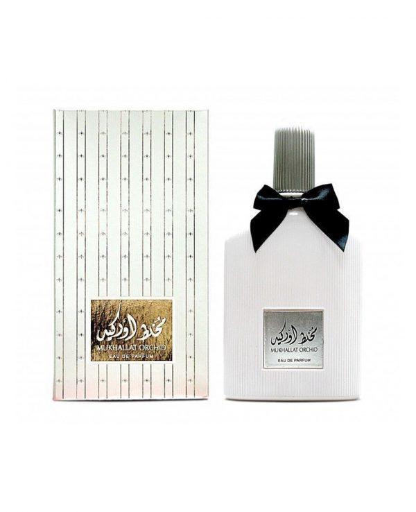 Mukhallat Orchid-arabian oud perfume, arabic oudh, best arabic perfume for ladies, arabian oud perfume uk, fragrance, best arabian oud fragrance lattafa uk