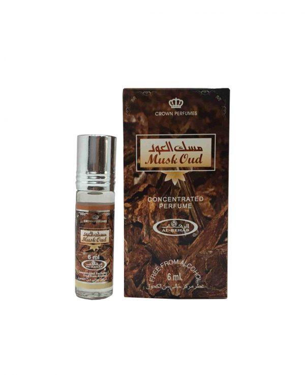 Musk Oud perfume oil 6ml roll on attar al rehab-al rehab concentrated perfume oil, best attar perfume oil, al-rehab crown roll on attar perfume oil, best arabic perfume oil