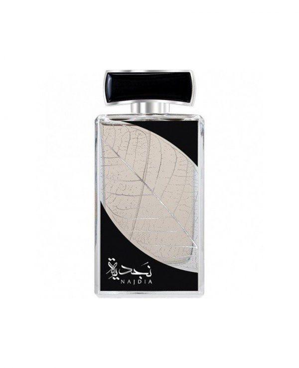 Najdia Silver Lattafa -arabian oud perfume, arabic oudh, best arabic perfume for ladies, arabian oud perfume uk, fragrance, best arabian oud fragrance lattafa uk 2
