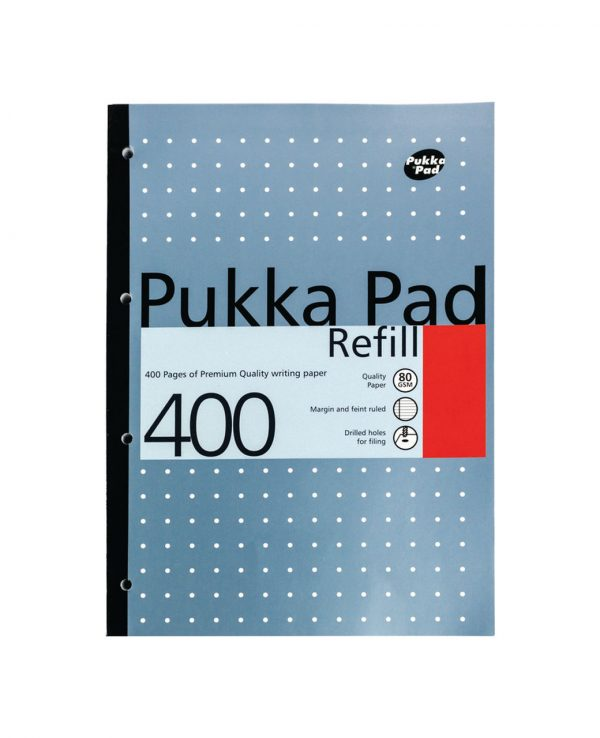 Pukka Pad 400 Refill Note Book Note Pad Blue- pukka pad refill 400, pukka pastel refill pad 400 page, pukka 400 sheet refill pad