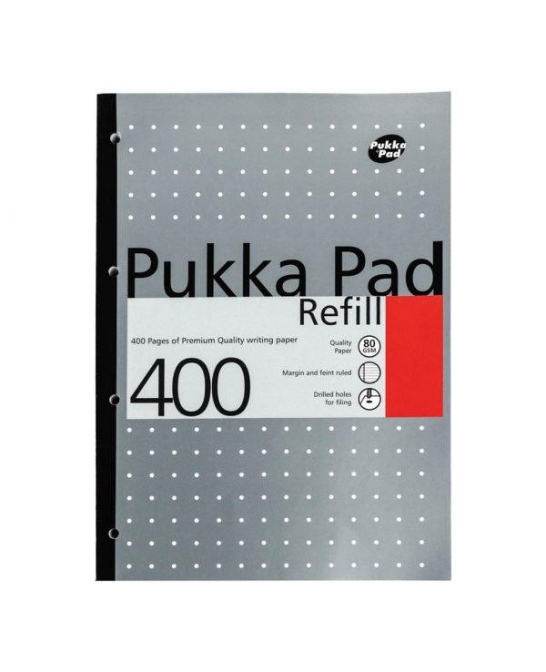 Pukka Pad 400 Refill Note Book Note Pad Grey- pukka pad refill 400, pukka pastel refill pad 400 page, pukka 400 sheet refill pad