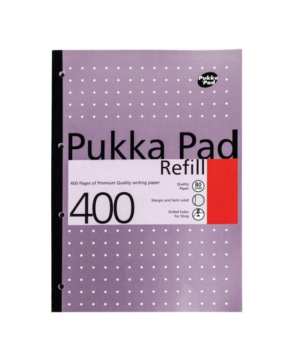 Pukka Pad 400 Refill Note Book Note Pad Purple- pukka pad refill 400, pukka pastel refill pad 400 page, pukka 400 sheet refill pad