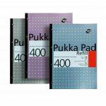 Pukka Pad 400 Refill Note Book Note Pad- pukka pad refill 400, pukka pastel refill pad 400 page, pukka 400 sheet refill pad