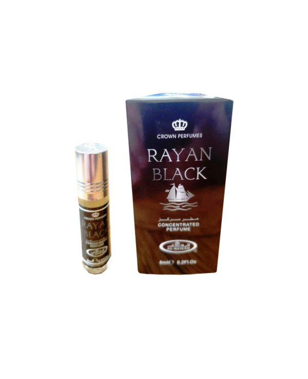 Rayan Black perfume oil 6ml roll on attar al rehab-al rehab concentrated perfume oil, best attar perfume oil, al-rehab crown roll on attar perfume oil, best arabic perfume oil