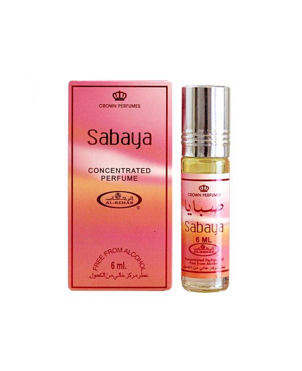 Sabaya perfume oil 6ml roll on attar al rehab-al rehab concentrated perfume oil, best attar perfume oil, al-rehab crown roll on attar perfume oil, best arabic perfume oil