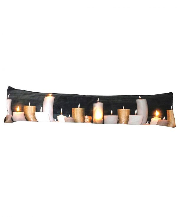 Soft Fabric LED candle draught excluder- funky draught excluders,draught excluder cushion, home sweet home draught excluder, red hearts and home
