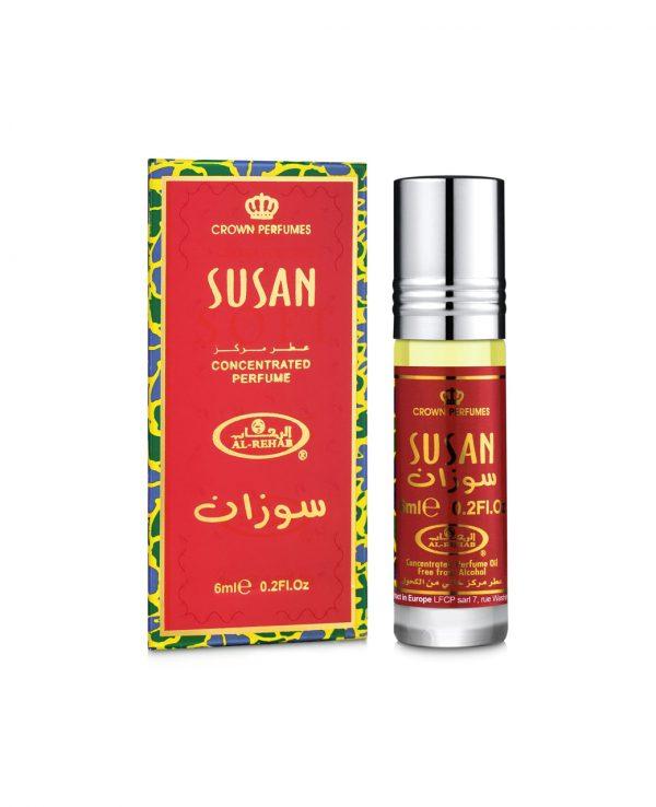 Susan perfume oil 6ml roll on attar al rehab-al rehab concentrated perfume oil, best attar perfume oil, al-rehab crown roll on attar perfume oil, best arabic perfume oil