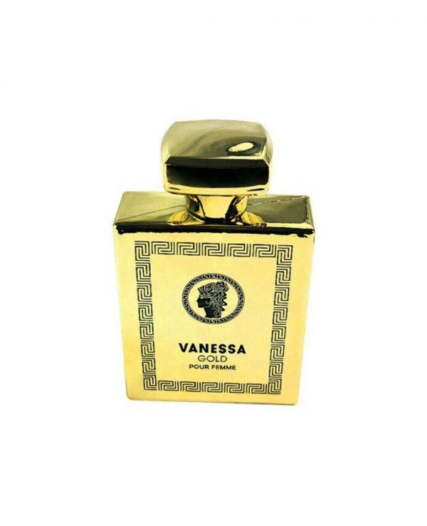 Vanessa Gold 100ml Fragrance World-arabian oud perfume, arabic oudh, best arabic perfume for ladies, arabian oud perfume uk, fragrance, best arabian oud fragrance, lattafa uk 2