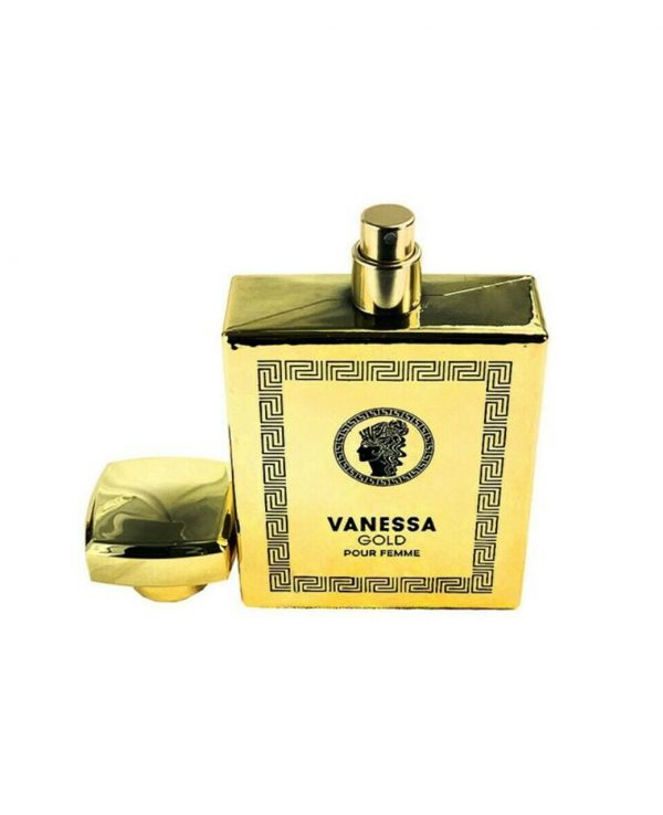 Vanessa Gold 100ml Fragrance World-arabian oud perfume, arabic oudh, best arabic perfume for ladies, arabian oud perfume uk, fragrance, best arabian oud fragrance, lattafa uk 3
