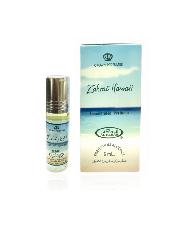 Zahrat Hawaii perfume oil 6ml roll on attar al rehab-al rehab concentrated perfume oil, best attar perfume oil, al-rehab crown roll on attar perfume oil, best arabic perfume oil