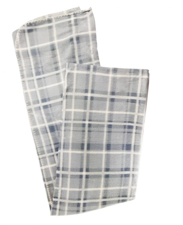 grey check tartan fleece throw blanket-throws home decor, tartan pattern throw blanket, check print fleece blanket 2