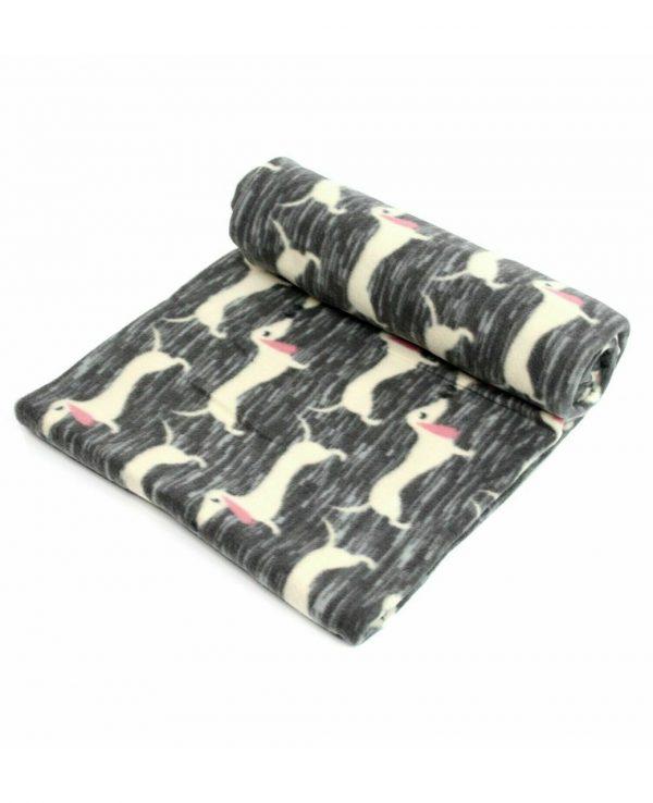 grey dog fleece throw blanket-throws home decor dog pattern throw blanket dog print fleece blanket