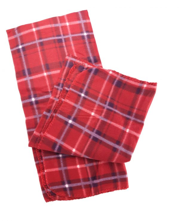 red blue check tartan fleece throw blanket-throws home decor, tartan pattern throw blanket, check print fleece blanket 2