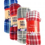 red blue grey check tartan fleece throw blanket-throws home decor,tartan pattern throw blanket, check print fleece blanket